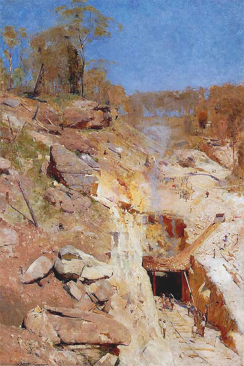 Arthur Streeton Fire On