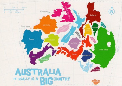 Australia is a big country